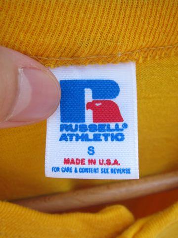 RUSSELL ラッセル ヘンリーネックTシャツ MADE IN USA Sサイズ サイズ34 サイズ36 アメリカ製 USA製 ビンテージ ヴィンテージ 古着 80s 80年代 アメカジ 3.jpg
