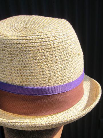 麦わら帽子 ストローハット 夏 サマー summer リボンハット リボン付き麦わら帽子 リボン付きストローハット コボちゃん 刈り上げ かりあげ 帽子で隠す.jpg