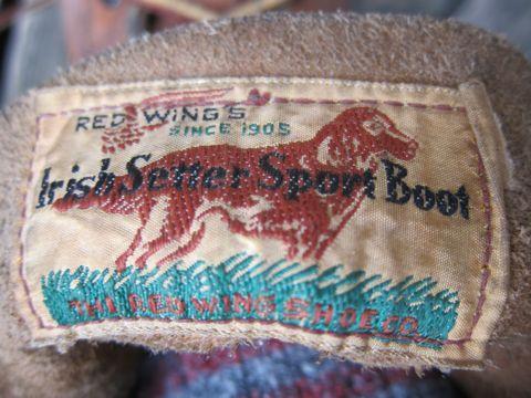 RED WINGS Irish Setter 877 50s 50年代製 レッドウイング アイリッシュセッター初期刺繍タグ 年代1954-58 生産国表記ナシ DU-FLEXソール ヴィンテージレッドウイング f.jpg