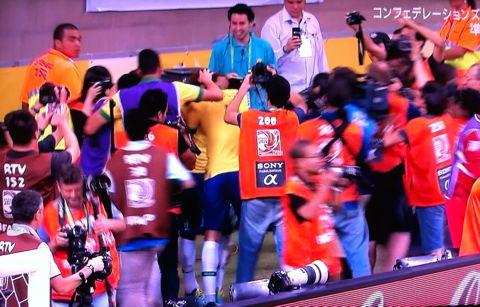 コンフェデレーションズカップ2013ブラジル大会 準決勝 ブラジル対ウルグアイ ネイマール フッキ マルセロ ダニエウ・アウベス パウリーニョ 3.jpg