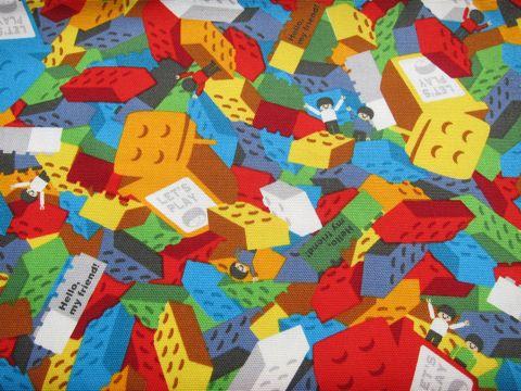 ビンテージファブリック ヴィンテージファブリック ヴィンテージ 生地 スイカ柄 すいか柄 マリメッコ 生地 ウニッコ 北欧 デザイン レゴ LEGO 3.jpg