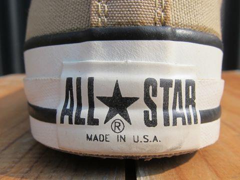 CONVERSE ALL STAR コンバースオールスター シーズンカラー 限定カラー FLINT KHAKI デッドストック ヴィンテージスニーカー MADE IN USA USA製 アメリカ製 3.jpg