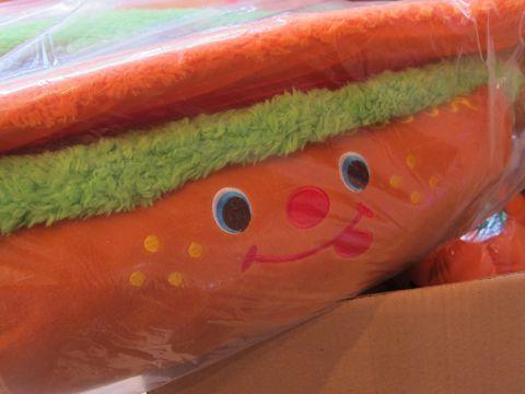 犬ハロウイングッズかぼちゃのおもちゃ犬用ベッドホットドッグベッドエクレア犬用ベッドポンポリース自由が丘目黒フントヒュッテ文京区犬グッズ5.jpg
