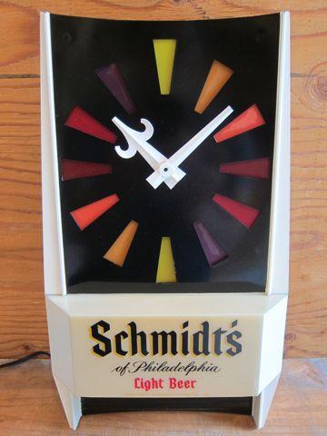 Schmidts Beer Store Clock ビール シュミッツ ストアーライトアップクロック ストアディスプレイ フントヒュッテ 文京区 壁掛け時計 ビンテージ ストアクロック 1.jpg