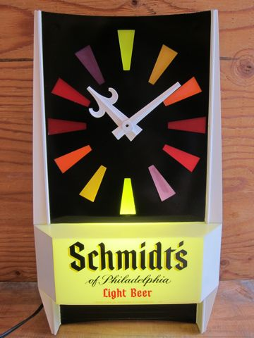 Schmidts Beer Store Clock ビール シュミッツ ストアーライトアップクロック ストアディスプレイ フントヒュッテ 文京区 壁掛け時計 ビンテージ ストアクロック 2.jpg