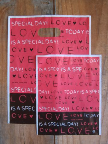 バレンタインデー バレンタインデー2014 バレンタインショッピングバッグ バレンタインラッピング OPP袋 店舗用品 ショッピングバッグ 2.jpg