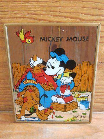 ミッキーマウス ディズニー ビンテージ 当時物 ミラー パブミラー ウォールミラー 壁掛けミラー MICKEY MOUSE Walt Disneys Productions ウォルト・ディズニー 1.jpg