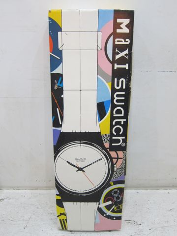 MAXI swatch マキシスウォッチ マキシ スウォッチ 全長2メートルにもなるマキシ(長い)ウォッチ レア 希少 スウォッチ 時計 壁掛け時計 ビンテージ ウォールクロック 1.jpg