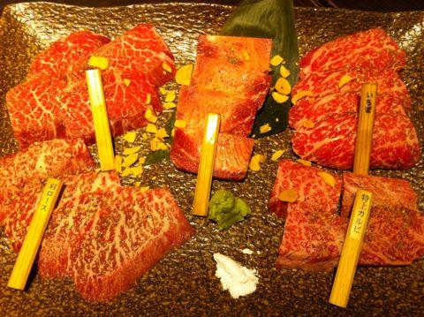 焼肉 ネギタン塩 キムチ カクテキ オイキムチ ユッケ 尾崎牛 池袋 和牛焼肉 やざわ 極上和牛盛合せ ホルモン アボカドサラダ カルビ ロース 5.jpg