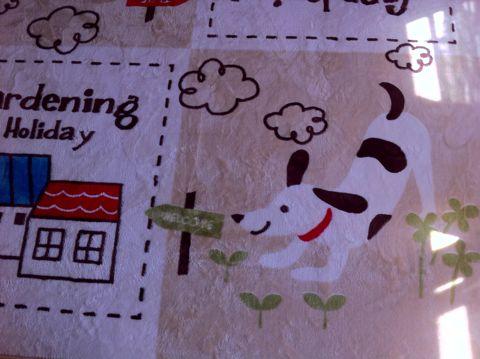 犬 カーペット DOG 犬の柄 犬のデザイン わんちゃん わんこ 柄 デザイン インテリア カーペット おしゃれ かわいい サイズ 夏 フローリング 1.jpg