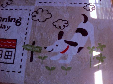 犬 カーペット DOG 犬の柄 犬のデザイン わんちゃん わんこ 柄 デザイン インテリア カーペット おしゃれ かわいい サイズ 夏 フローリング 2.jpg