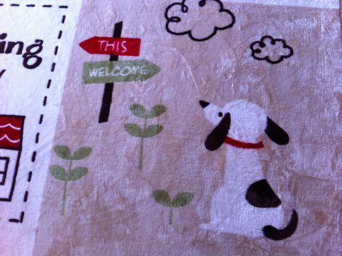 犬 カーペット DOG 犬の柄 犬のデザイン わんちゃん わんこ 柄 デザイン インテリア カーペット おしゃれ かわいい サイズ 夏 フローリング 3.jpg