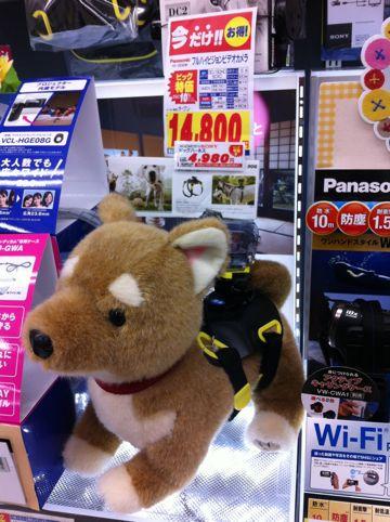 フルハイビジョンカメラ SONY ソニー 動画撮影 デジタルHDビデオカメラレコーダー アクションカム ドッグハーネス 愛犬に装着して撮影できる 1.jpg
