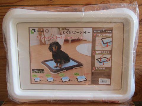 Richell リッチェル わくわくシーツトレー 犬用トイレトレー 犬用トイレトレイ 犬のトイレ サイズ レギュラー ワイド 初めて犬を飼う 犬を飼うのに必要な物 1.jpg