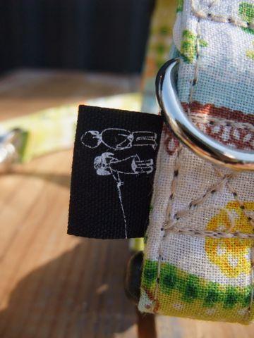 カラーリードハーネス犬用首輪ドッググッズ都内フントヒュッテオリジナルグッズ東京ヴィンテージファブリックビンテージ生地緑の生地Green, Green 4.jpg