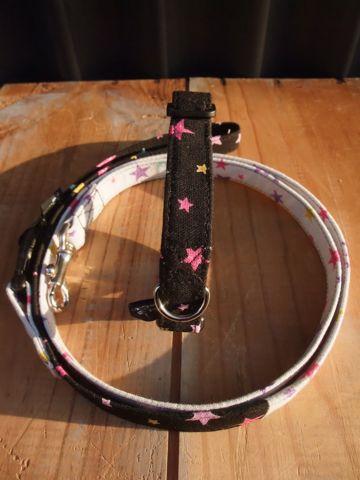 カラーリードハーネス犬用首輪ドッググッズ都内フントヒュッテオリジナルグッズ東京ヴィンテージファブリックビンテージ生地スター星柄生地STAR FRUITS3_1.jpg
