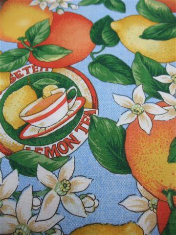 カラーリードハーネス犬用首輪ドッググッズ都内フントヒュッテオリジナルグッズ東京ヴィンテージファブリックビンテージ生地フルーツ柄生地lemon & orange9.jpg