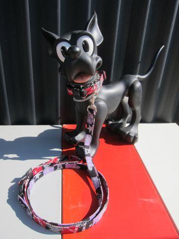カラーリードハーネス犬用首輪ドッググッズ都内フントヒュッテオリジナルグッズ東京ヴィンテージファブリックビンテージ生地ゴーストラメ生地Ghost_3.jpg