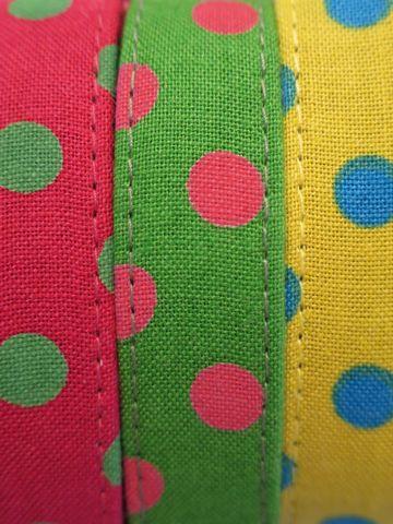 フントヒュッテオリジナル首輪カラーリードリーシュハーネス文京区かわいい犬の首輪東京ヴィンテージ生地ファブリック水玉模様ポルカドット Polka Dot Collar Leash Harness_2.jpg