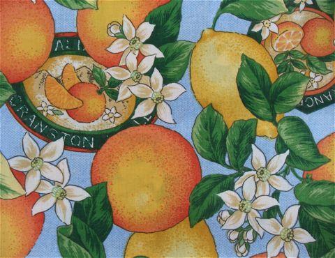 フントヒュッテオリジナル首輪カラーリードリーシュハーネス文京区ヴィンテージファブリック東京hundehutteビンテージ生地フルーツ柄生地Lemon & Orange Collar Leash Harness_3.jpg