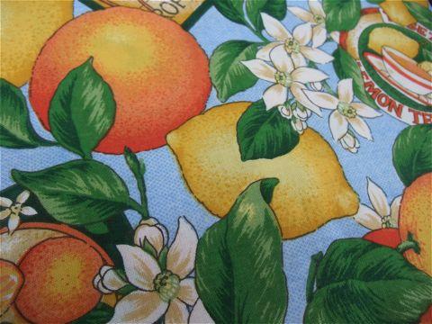 フントヒュッテオリジナル首輪カラーリードリーシュハーネス文京区ヴィンテージファブリック東京hundehutteビンテージ生地フルーツ柄生地Lemon & Orange Collar Leash Harness_4.jpg