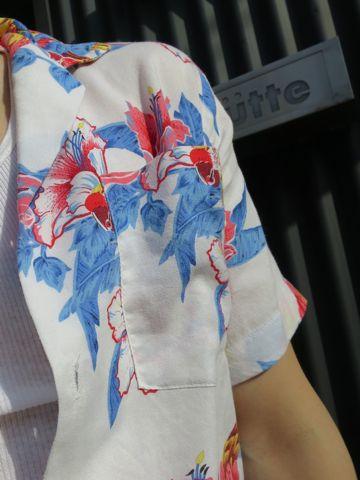 アロハシャツ MADE IN USA Hawaii アメリカ製 ハワイ製 ハワイ産 USA製 ヴィンテージアロハ ビンテージアロハ 柄 モチーフ デザイン 鳥 オウム 古着 1.jpg