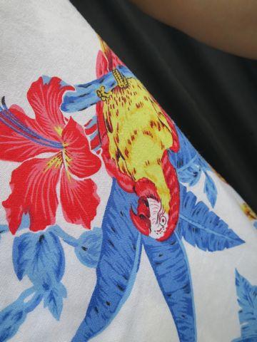 アロハシャツ MADE IN USA Hawaii アメリカ製 ハワイ製 ハワイ産 USA製 ヴィンテージアロハ ビンテージアロハ 柄 モチーフ デザイン 鳥 オウム 古着 2.jpg