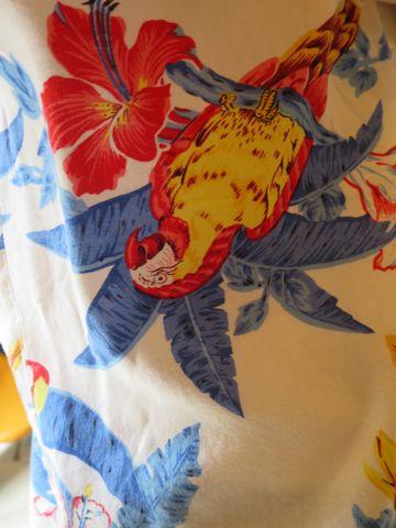 アロハシャツ MADE IN USA Hawaii アメリカ製 ハワイ製 ハワイ産 USA製 ヴィンテージアロハ ビンテージアロハ 柄 モチーフ デザイン 鳥 オウム 古着 3.jpg