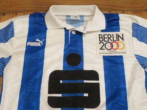 サッカー ユニフォーム プーマ PUMA 英国製 イギリス製 UK製 MADE IN UK Sparkasse ベルリン五輪招致キャンペーンのワッペン付き オリンピック BERLIN2000 4.jpg