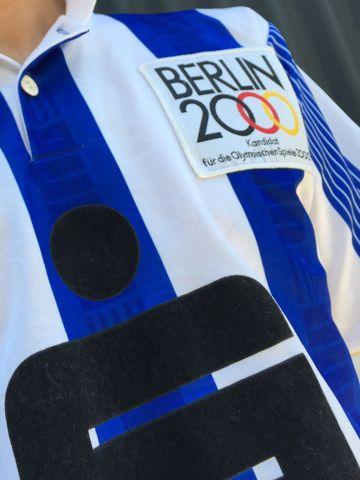 サッカー ユニフォーム プーマ PUMA 英国製 イギリス製 UK製 MADE IN UK Sparkasse ベルリン五輪招致キャンペーンのワッペン付き オリンピック BERLIN2000 6.jpg