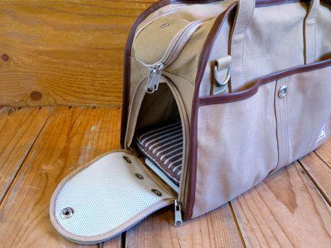 DDLab ディディラボ DDL2007 ボストン ベージュ 犬用キャリーバッグ 日本製 MADE IN JAPAN 東京 フントヒュッテ 文京区 ディディラボ 評判 現在_4.jpg