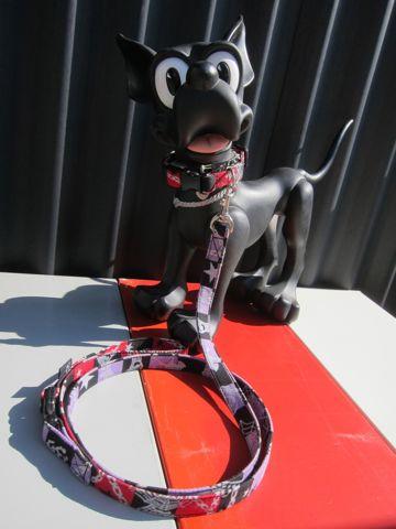 フントヒュッテオリジナル首輪カラーリードリーシュハーネス文京区hundehutte東京かわいい犬の首輪かっこいい犬のリードラメ生地ハロウィンゴースト Ghost Collar Leash Harness_2.jpg