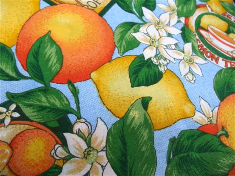 フントヒュッテオリジナル首輪カラーリードリーシュハーネス文京区ヴィンテージファブリック東京hundehutteビンテージ生地フルーツ柄生地Lemon & Orange Collar Leash Harness_9.jpg