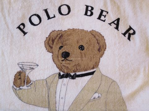 POLO BEAR ポロベアー POLO by Ralph Lauren ラルフローレン ビーチタオル ブランケット 画像 USA製 MADE IN USA アメリカ製 米国製 ヴィンテージ デッドストック 1.jpg