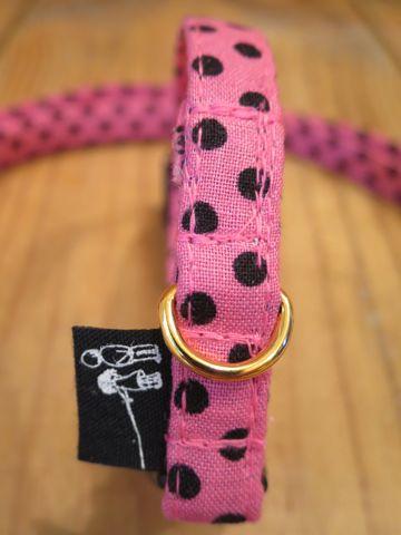 フントヒュッテオリジナルカラーリードリーシュハーネス東京hundehutte駒込かわいい首輪犬グッズ都内生地ファブリック小さい水玉模様ミニポルカドット Mini Polka Dot_13.jpg