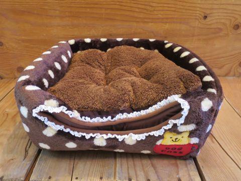 ポンポリース PomPreece 犬用ベッド犬用カドラー画像かわいい犬用ベッド販売店都内犬グッズショップ東京フントヒュッテ駒込 2WAYカドラー ドットボア_5.jpg