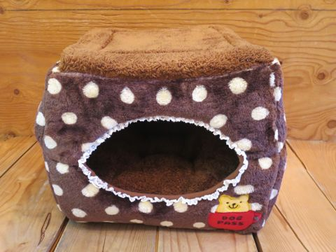 ポンポリース PomPreece 犬用ベッド犬用カドラー画像かわいい犬用ベッド販売店都内犬グッズショップ東京フントヒュッテ駒込 2WAYカドラー ドットボア_10.jpg