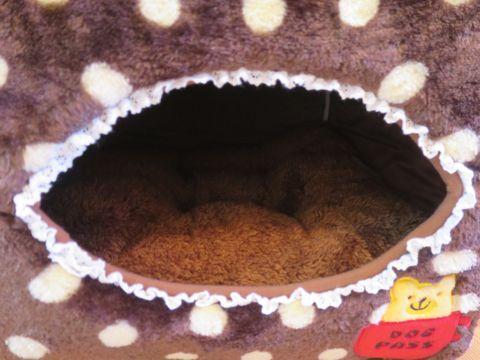 ポンポリース PomPreece 犬用ベッド犬用カドラー画像かわいい犬用ベッド販売店都内犬グッズショップ東京フントヒュッテ駒込 2WAYカドラー ドットボア_12.jpg