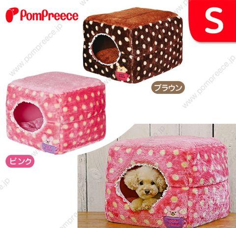 ポンポリース PomPreece 犬用ベッド犬用カドラー画像かわいい犬用ベッド販売店都内犬グッズショップ東京フントヒュッテ駒込 2WAYカドラー ドットボア_2.jpg