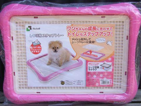 Richellリッチェルしつけ用ステップトレー幼犬時にはメッシュタイプ。大人になったらメッシュを外して使用できるトイレトレー。犬用トイレトレー画像オススメ犬トイレ躾_3.jpg