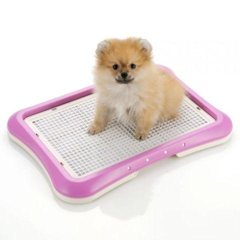 Richellリッチェルしつけ用ステップトレー幼犬時にはメッシュタイプ。大人になったらメッシュを外して使用できるトイレトレー。犬用トイレトレー画像オススメ犬トイレ躾_6.jpg