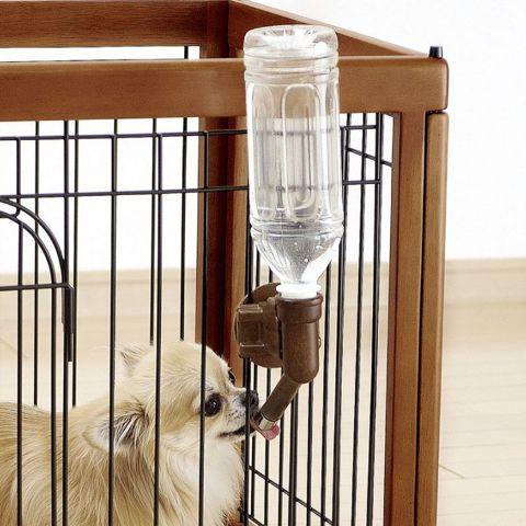 Richellリッチェルウォーターノズル犬食事関連給水器給水用品ケージやサークルに取り付けて、ペットボトルで簡単水分補給ウォーターノズル画像カラーサイズ_通販1.jpg