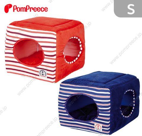 ポンポリース PomPreece 犬用ベッド犬用カドラー画像かわいい犬用ベッド販売店都内犬グッズショップ東京フントヒュッテ駒込 2WAYカドラー PPボーダー_2.jpg