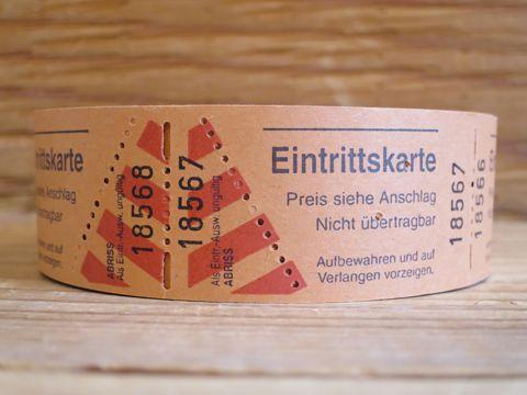 ドイツ チケット Eintrittskarte 海外 チケット 紙もの 紙物 ドイツ 雑貨 外国 チケット コラージュ デコレート スクラップブック ラッピングの飾り 1.jpg