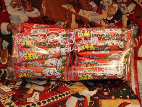 うまい棒クリスマス特別30本入りうまい棒クリスマス柄チョコレート味シーズン限定品画像やおきん駄菓子楽駄屋_1.jpg