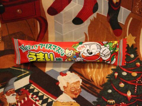 うまい棒クリスマス特別30本入りうまい棒クリスマス柄チョコレート味シーズン限定品画像やおきん駄菓子楽駄屋_2.jpg