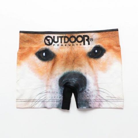 OUTDOOR PRODUCT アンダーウェア 下着 ボクサーパンツ アニマルプリントボクサーパンツ 犬パンツ 犬プリント 1.jpg
