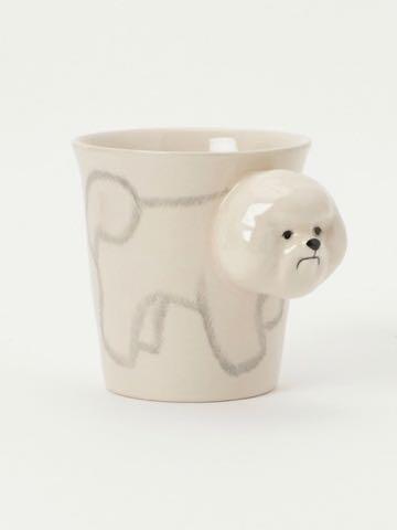 Bichon Frise Mug ビションフリーゼマグカップ 画像 ビションフリーゼグッズ フントヒュッテ 東京 かわいいマグカップ bichonfrisemug 1.jpg