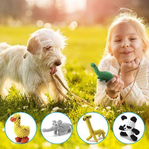 Focuspet犬のおもちゃドッグトイ画像ペットトイロープのおもちゃ丈夫犬噛むぬいぐるみキリンパンダダックあひるぞう象恐竜犬運動不足ストレス解消_7.jpg