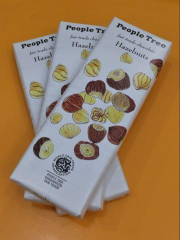People Tree フェアトレード・チョコレートオーガニックチョコレート画像ヘーゼルナッツチョコレート冬季限定有機栽培自然食マクロビオティック_1